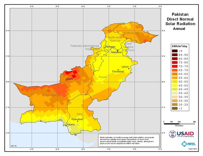 Solar_Radiation_Map_Pakistan